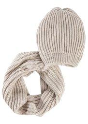 Шапка + шарф (индиго) Bonprix