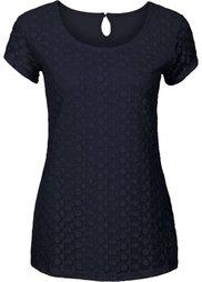 Кружевная футболка (мятный) Bonprix