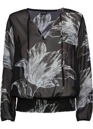 Блузка (персиковый/темно-синий с рисун) Bonprix