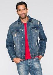 Джинсовая куртка Regular Fit (синий «грязный потертый») Bonprix