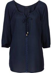 Блузка с кружевной отделкой (бордово-коричневый) Bonprix