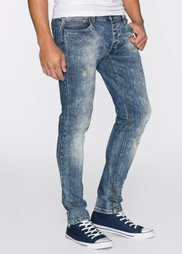 Джинсы-стретч Skinny Fit Straight, длина (в дюймах) 32 (синий «мраморный») Bonprix