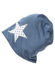 Шапочка с принтом звезды (серый) Bonprix