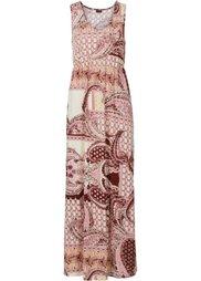 Макси-платье (коричневый/синий с узором) Bonprix