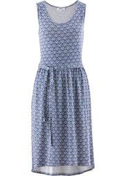 Трикотажное платье (клубничный/цвет белой шерсти с) Bonprix