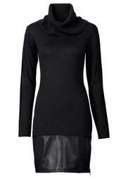 Вязаное платье (красный/черный) Bonprix
