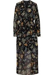 Обязательный элемент гардероба: длинное шифоновое платье (цвет белой шерсти с узором) Bonprix