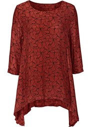 Блузка с принтом (цвет белой шерсти/черный с узо) Bonprix