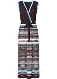 Макси-платье (черный/цвет белой шерсти с при) Bonprix