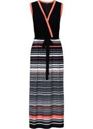 Макси-платье (коричневый/цвет белой шерсти с) Bonprix
