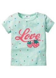 Мода для малышей: футболка + трикотажные брюки (2 изд.) из биохлопка, Размеры  56/62-104/110 (нежная мята/нежный ярко-розовы) Bonprix