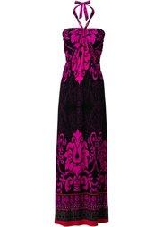 Макси-платье (коричневый/бирюзовый с принтом) Bonprix