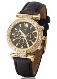 Часы (красный/золотистый) Bonprix