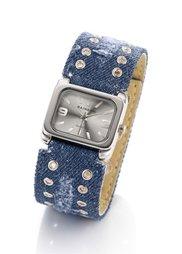 Часы Деним (выбеленный деним) Bonprix