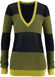 Пуловер (лазурный/черный) Bonprix