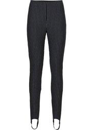 Легинсы со штрипками (черный) Bonprix