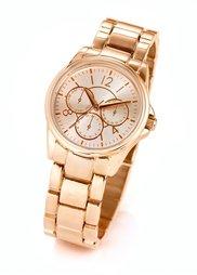 Небольшие наручные часы с металлическим браслетом (золотистый) Bonprix