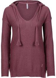 Вязаный пуловер (светло-серый) Bonprix