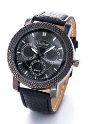 Часы Эрл (черный) Bonprix