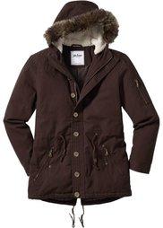 Куртка-парка Regular Fit на ватной подкладке (темно-оливковый) Bonprix