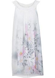 Платье с кружевом (мятный с рисунком) Bonprix