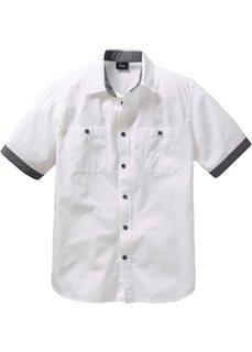 Рубашка с коротким рукавом (нежно-голубой/шиферно-серый) Bonprix