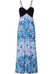 Макси-платье (ярко-розовый/черный с узором) Bonprix