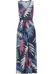 Макси-платье с аппликацией камешками (коралловый с узором) Bonprix