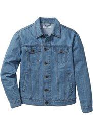 Джинсовая куртка классического покроя (темно-синий «потертый») Bonprix