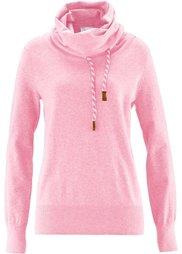 Пуловер из нежной пряжи (светло-серый меланж) Bonprix