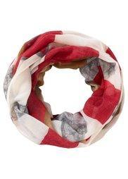 Узорчатый шарф-снуд (хаки/цвет охры) Bonprix