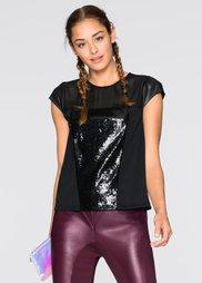 Блузка с пайетками от Marcell von Berlin for bonprix (черный)
