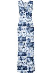 Макси-платье с драпировкой в узел (коралловый батик/цвет белой ше) Bonprix
