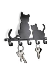 Вешалка для ключей Кошки (черный) Bonprix