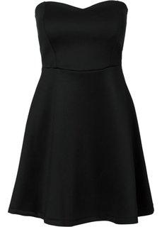 Платье с застежкой на молнию (черный/белый с узором) Bonprix