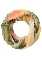 Узорчатый шарф-снуд (красный/бежевый) Bonprix
