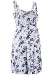 Мода для беременных: трикотажное платье (белый/нежный ярко-розовый в цв) Bonprix