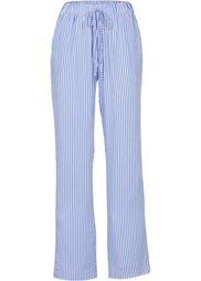 Нежно ниспадающие брюки с широкими брючинами (темно-синий) Bonprix