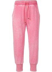 Мода больших размеров: трикотажные брюки (индиго «потертый») Bonprix
