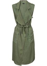 Платье с эффектом запаха (песочный) Bonprix