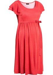 Праздничная мода для беременных: платье в горошек (цвет белой шерсти/кремовый в г) Bonprix