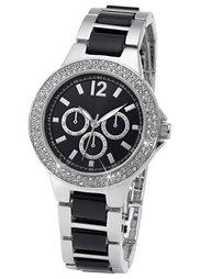 Часы в дизайне под хронограф (розово-золотистый/черный) Bonprix