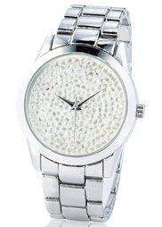 Часы с камешками в области циферблата (золотистый) Bonprix