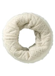 Шарф-снуд с искусственным мехом (серо-коричневый) Bonprix