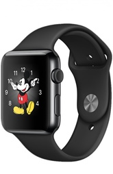Apple Watch 42mm Space Black Stainless Steel Case with Sport Band Apple