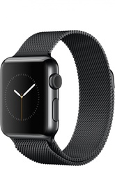 Apple Watch 38mm Space Black Stainless Steel Case with Milanese Loop Apple
