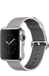 Apple Watch 38mm Silver Stainless Steel Case with Woven Nylon Apple