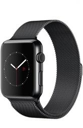 Apple Watch 42mm Space Black Stainless Steel Case with Milanese Loop Apple