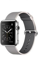 Apple Watch 42mm Silver Stainless Steel Case with Woven Nylon Apple