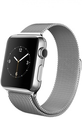 Apple Watch 38mm Silver Stainless Steel Case with Milanese Loop Apple